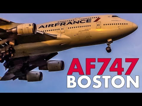 Air France BOEING 747 in Boston (2014)