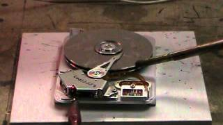Erasing A PC Hard Disk With 4 kV HV And Calcium Thermite
