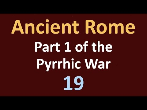 Ancient Rome History - Part 1 Pyrrhic War - 19