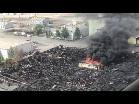 Fire under the Fremont bridge pt 2 - Portland Oregon