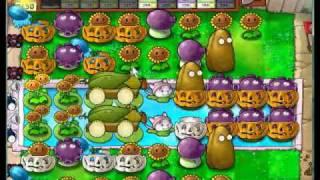 plants vs. zombies survival endless mixed setup (2 cobs+cobless)