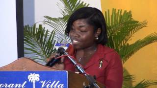 UNFPA Caribbean - Young Shaddae Palmer gives Powerful Youth Declaration on Investing in our Girls