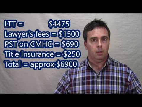 Closing costs to buy a house in Barrie, Ontario