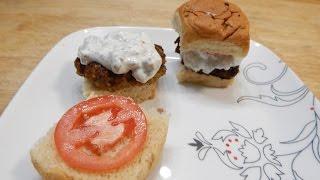 Falafel Burger Sliders With Tzatziki Sauce