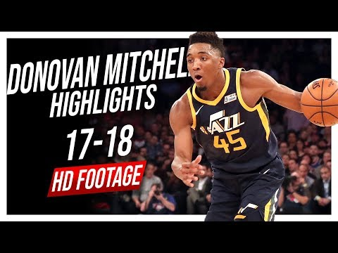 Jazz SG Donovan Mitchell 2017-2018 Season Highlights ᴴᴰ