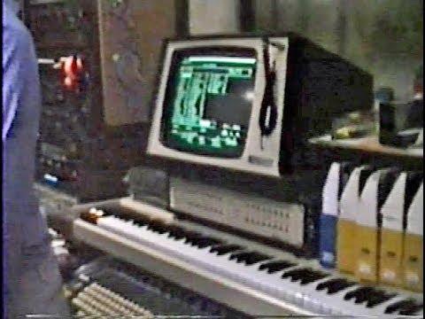1985年のプライベートスタジオ風景(東京)