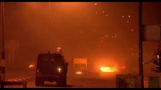 Tear gas & Stun grenades: Palestinian protesters clash with IDF