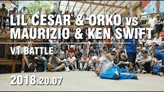 LIL CESAR & ORKO vs MAURIZIO & KEN SWIFT | BATTLE OF GODS | V1 BATTLE | SPB | 20.07.18