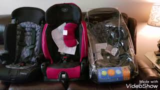How to fit 3 car seats in a small car.