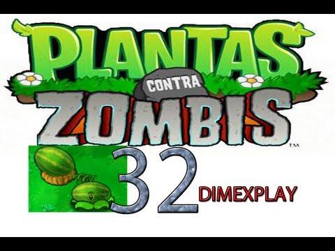 A jugar plantas vs zombis parte 32 sandias vs frankenstein