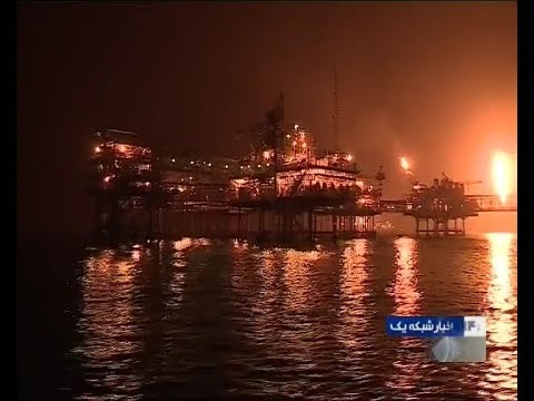 Iran Salman offshore oil rig, Petrol production, Persian Gulf سكوي نفتي فراساحل سلمان شاخاب پارس