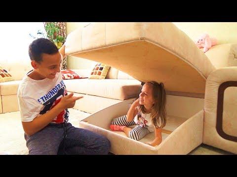 ПРЯТКИ в нашем ДОМЕ с родителями Hide and seek spot at home Challenge - Видео онлайн
