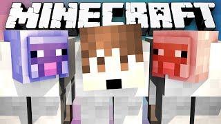 Minecraft Modded Minigame: MITCH THE SHEEP?! - (Winter Lucky Block Bridges) - w/Preston & Friends!