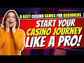 5 Best Casino Games For Beginners ♠️♣️♥️♦️ Tips and Tricks That Helped Me As A Novice
