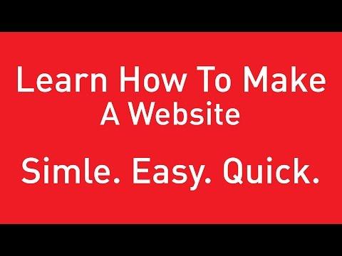 How To Make / Create A Website