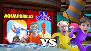 Aquapark.io 🌊vs Fun Race 3D 🏃 Gameplay & Reviews