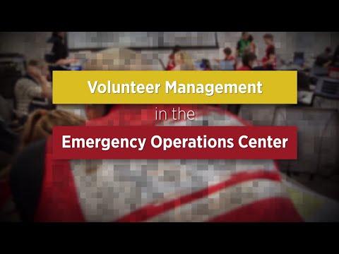 Just In Time EOC Training - Volunteer Management