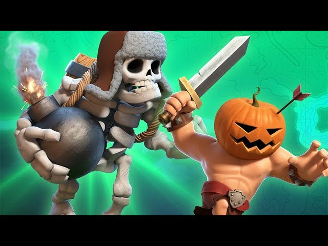 Giant Skeleton & Pumpkin Barbarian (Clash of Clans Official)