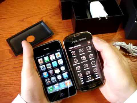 Samsung Armani vs iPhone 3GS Cellulare-Magazine.it (Eng)