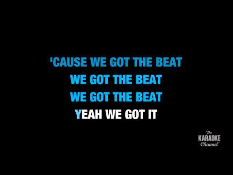 """We Got The Beat in the Style of """"Go-Go's"""" karaoke video with lyrics (no lead vocal)"""