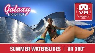 360 ° VR Summer Water Slides VR360 onride POV | Therme Galaxy Erding Sommer Wasserrutschen Big Wave