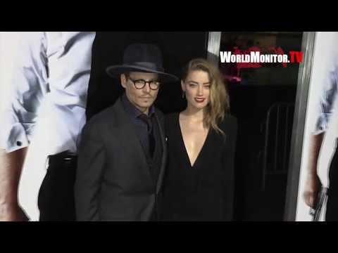 Johnny Depp and Amber Heard its true Love! 3 Days to Kill LA premiere Redcarpet