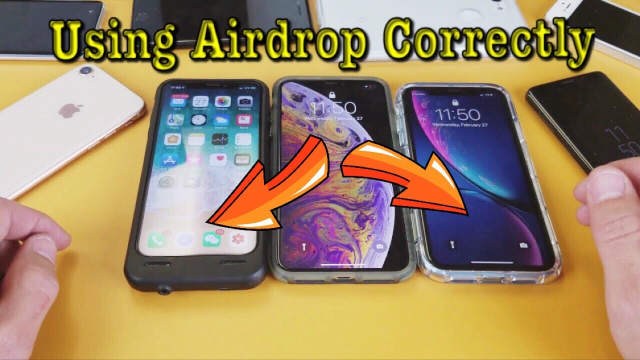 iPhone X/XS/XR: How to Use AIRDROP to Transfer Photos ...