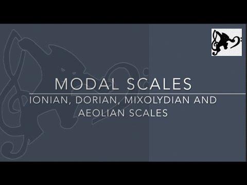 MODES - Ionian, Dorian, Aeolian, Mixolydian (Listening Exercise)