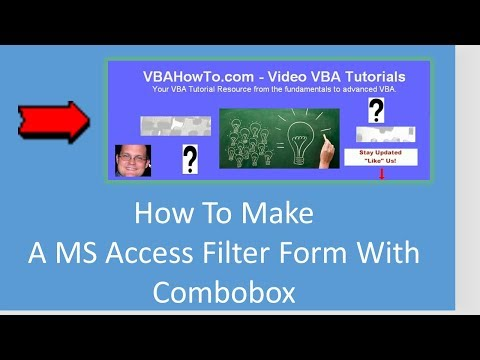 MS Access Filter Form With Combobox VBA