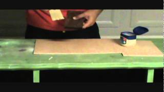How To Distress Wood Or Furniture With Vaseline (petroleum Jelly)