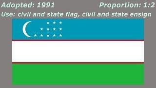Flags of Uzbekistan