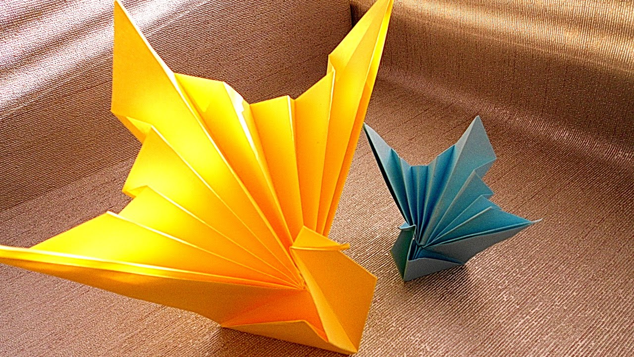 how to make a peacock origami for kids youtube