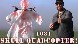 1031 Skull Halloween Quadcopter FLYING Review!! PT2