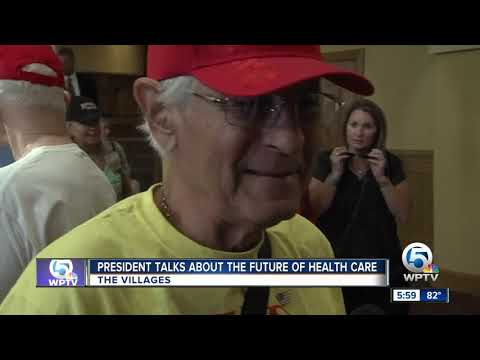 President Trump Calls For Medicare Changes During Health Care Rally In The Villages
