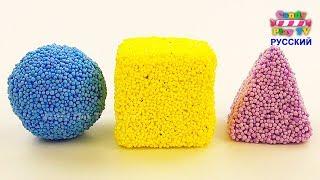 Микки и Минни Маус Игрушки сюрпризы для детей | Учим цвета с шариковым пластилином | Учим фигуры