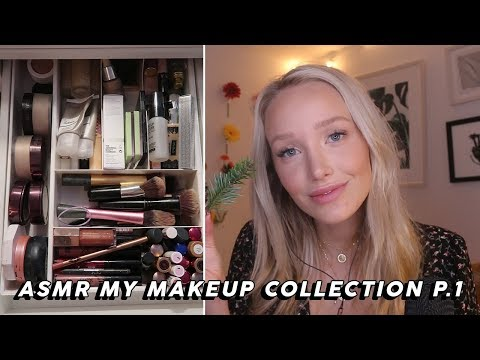 ASMR Makeup Collection Show And Tell (Tapping, Whispers, Lid Sounds…) Part One | GwenGwiz thumbnail