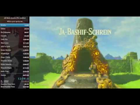 Breath of the Wild: All Main Quests Speedrun in 3:59:39