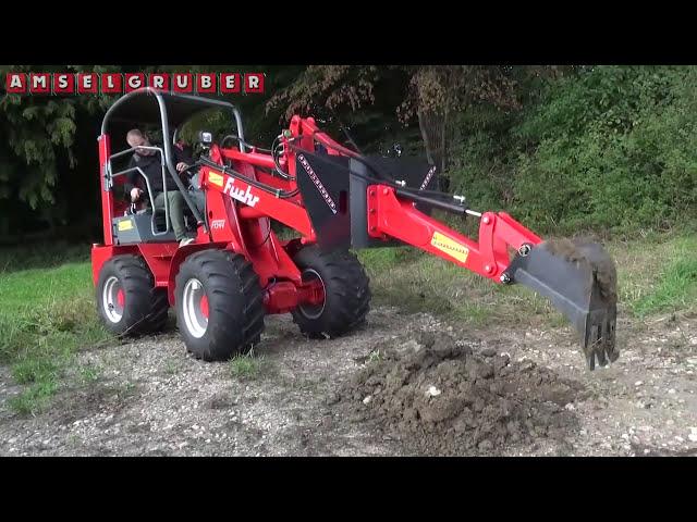 Baggerarm für Hoflader -Amselgruber Landtechnik- Fuchs F 1244 Hoflader mit Dominator Baggerarm
