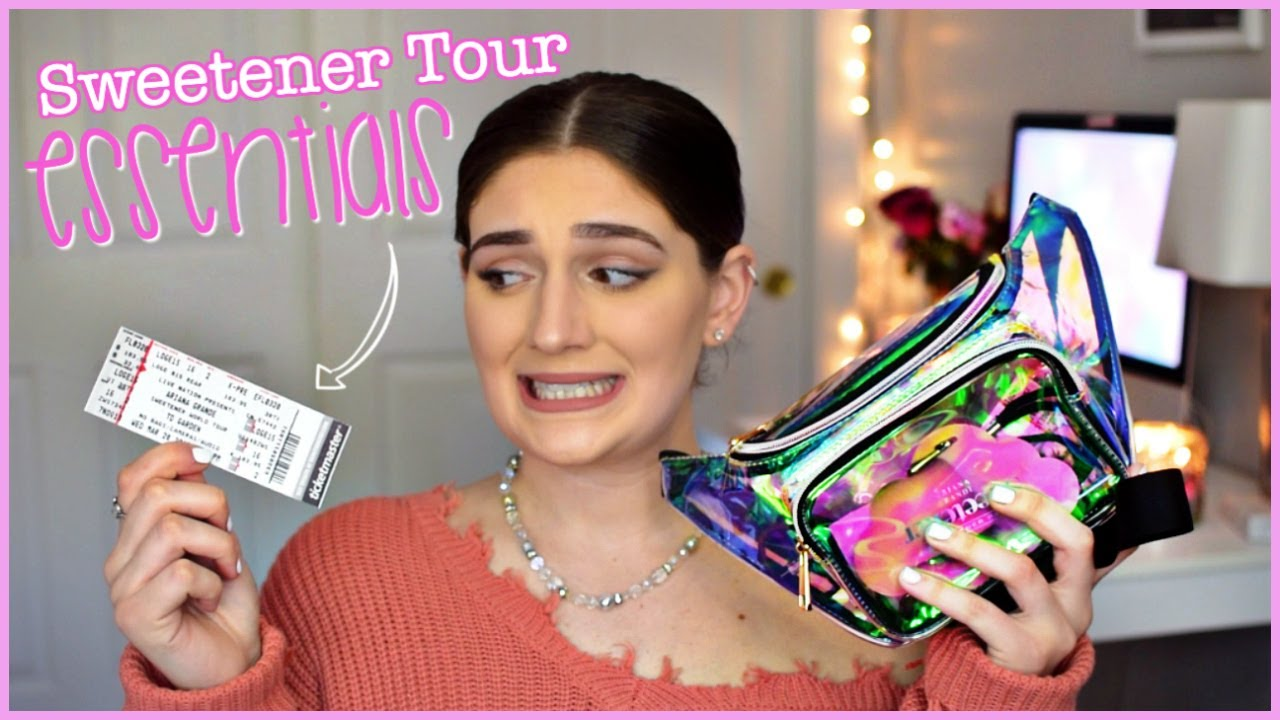 067730e7446 What's in my Sweetener Tour Bag? Ariana Grande Sweetener Tour Essentials |  Amber Greaves