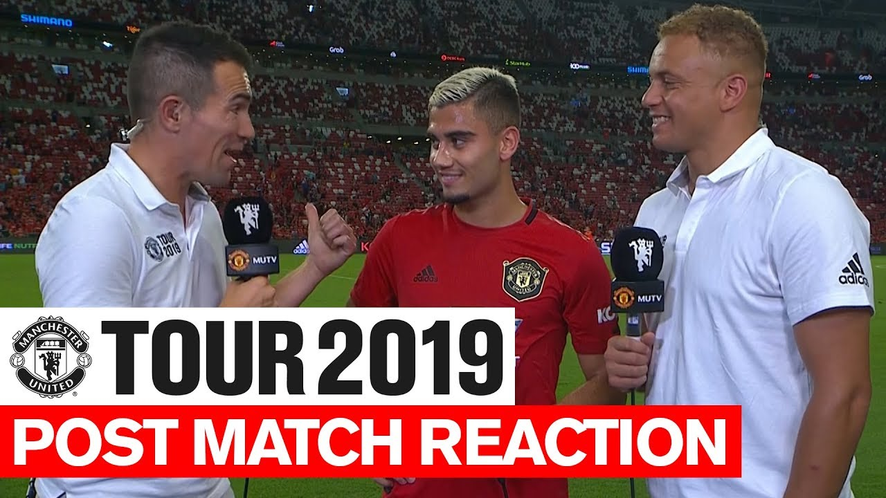 Manchester United Tour 2019 Inter Milan Andreas Pereira Post Match Reaction
