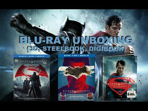 Batman v Superman Ultimate Edition Bluray Unboxing (3D, Best Buy Exclusive, Target Exclusive)