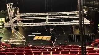 Time lapse get out for Cinderella panto
