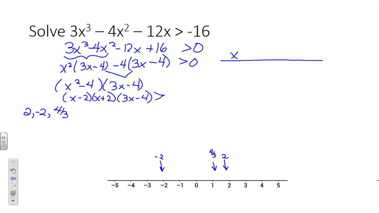 Graphing and solving nonlinear inequalities - YouTube