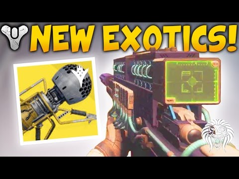 Destiny 2 NEW EXOTIC WEAPONS! Dubious Volley Gameplay, 1 Shot Sniper Rifle & Void Blast Cannon