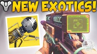 Destiny 2: NEW EXOTIC WEAPONS! Dubious Volley Gameplay, 1 Shot Sniper Rifle & Void Blast Cannon