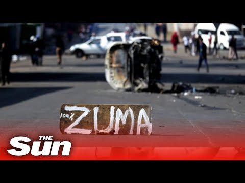 South Africa protests see looting & fires over the arrest of Zuma