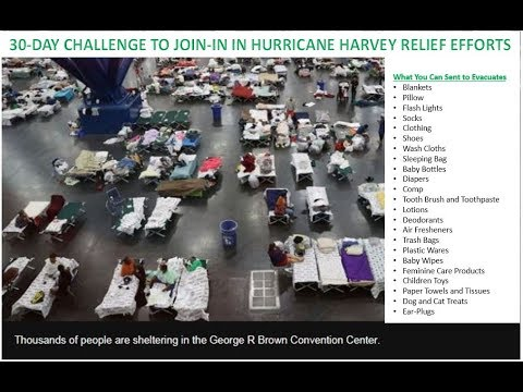 Day 29 - 30 Days Challenge to Join-in In Hurricane Harvey Relief Efforts