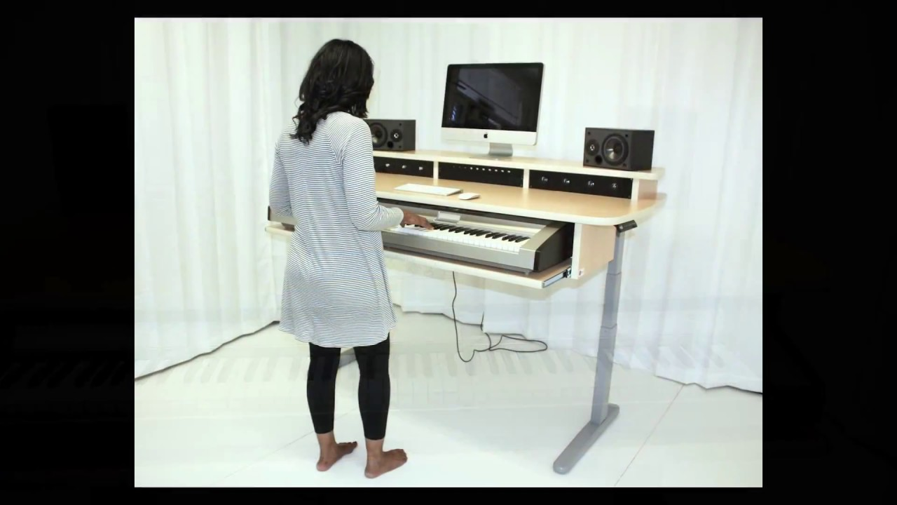 summit sit stand studio desk youtube. Black Bedroom Furniture Sets. Home Design Ideas