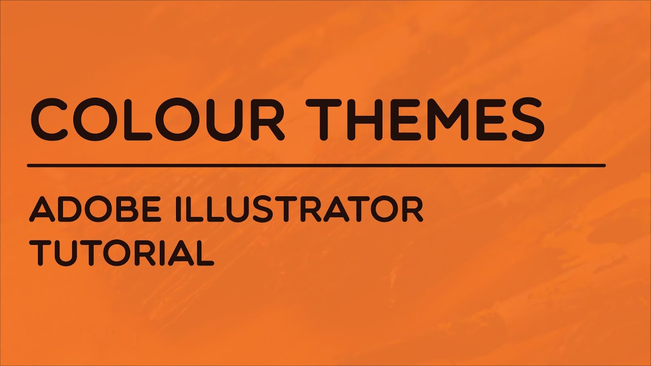color themes in adobe illustrator youtube