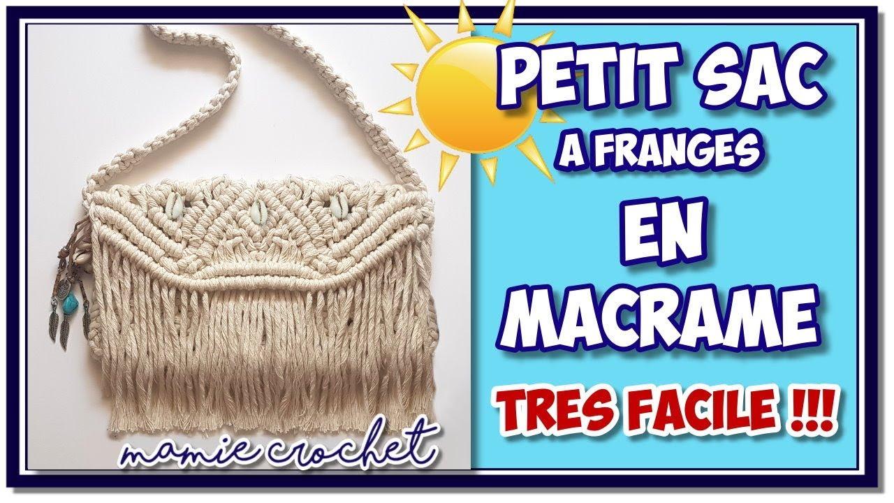 Quelle Ficelle Pour Macramé comment faire un sac trÈs facile en macramé en corde à franges ❤️ , tuto  pas à pas